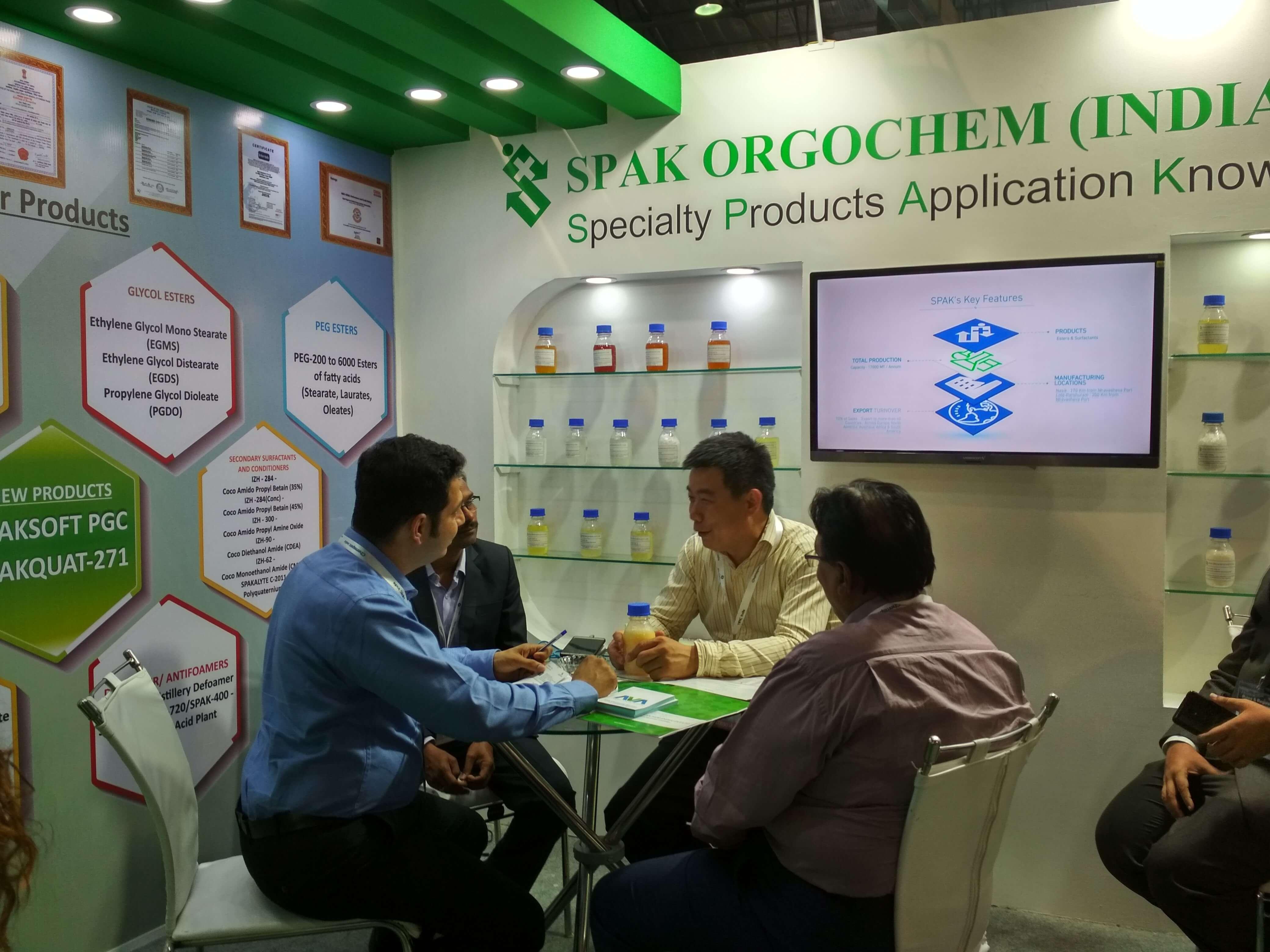 ChemSpec Mumbai, India 2018 - SPAK Orgochem